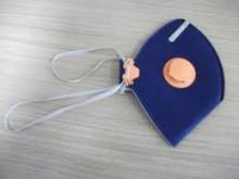 Respirador PFF2 azul com válvula laranja